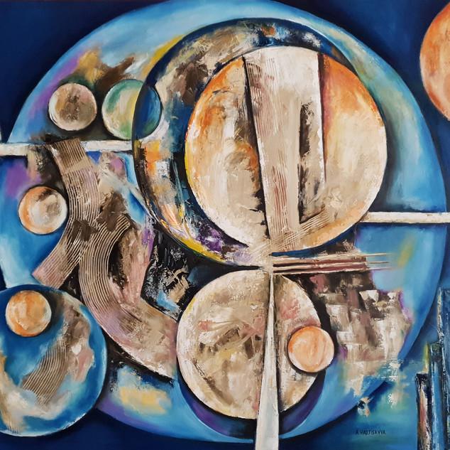 ''CIRCLES OF LIFE'' 100X80 cm