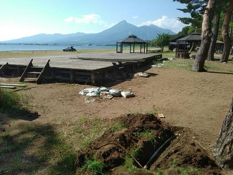 天神浜オートキャンプ場漏水修理