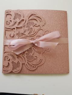 Glitter Rose Gold Pocketfold