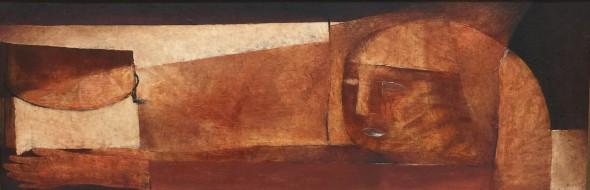 少女と果物 36.6×103.5cm 油彩 1974年