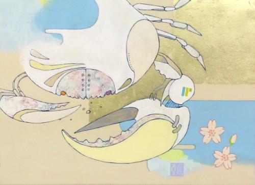 安岡亜蘭 crab F4号 アクリル