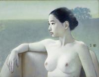 高塚省吾「朝」油彩6F 1980年代前半