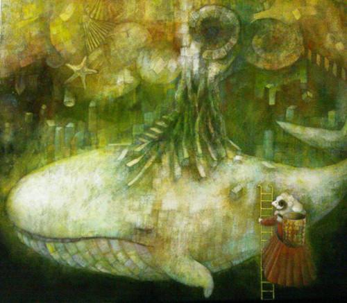細井 世思子 「クジラの樹」 (F8)