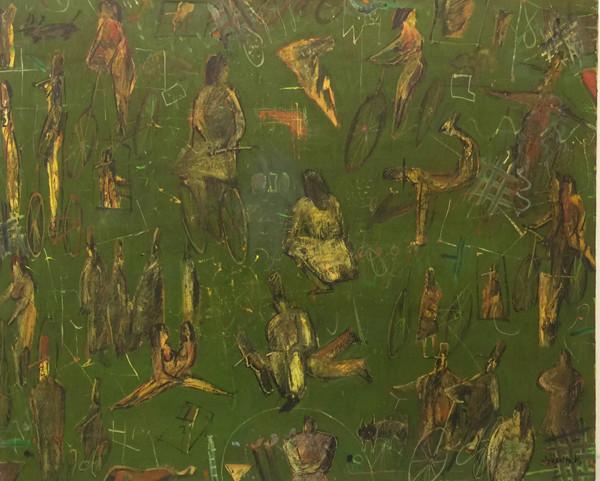 人間模様 F15 oil painting 1984