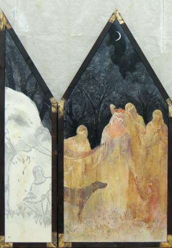 戴冠式―光と闇の狭間で(部分)