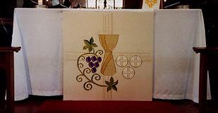 Altar panel ecclesiastical design communion white festive seasons eucharist