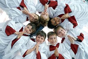 Choir robes children's choir ruffs surplices