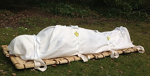Woven Bamboo Shroud for a green funeral