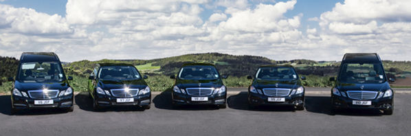 range of funeral vehicles from JG Fielder and Sons