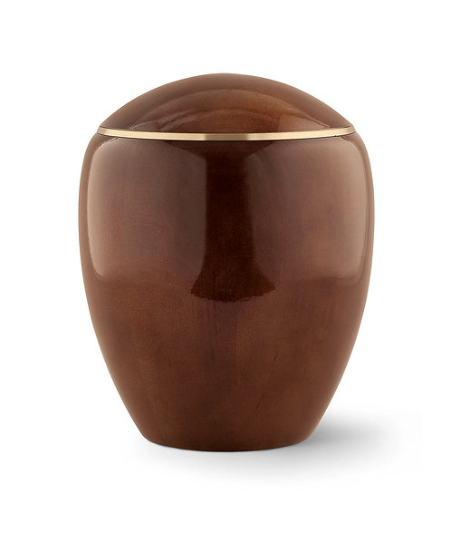 Round Top Wooden Urns