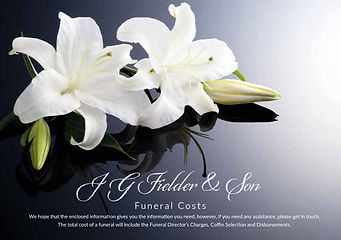 JG Fielder & Son Funeral Pricelist, Costs