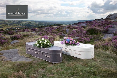 two wool coffins in the countryside