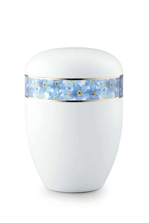 Blue Flower Bordered Urn