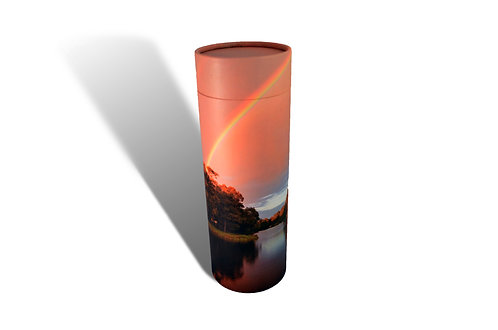 rainbow over water ashes scatter tube