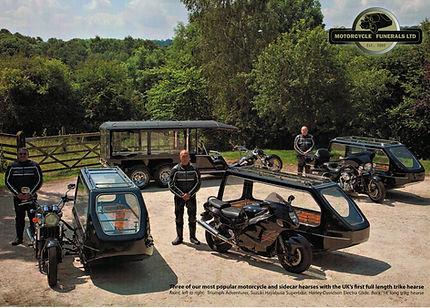 Motorcycle , Motorbike, Trike hearse