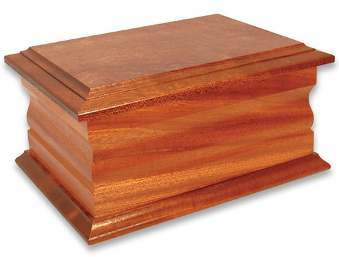 Double Solid Mahogany Ashes Casket