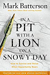 In The Pit With a Lion On a Snowy