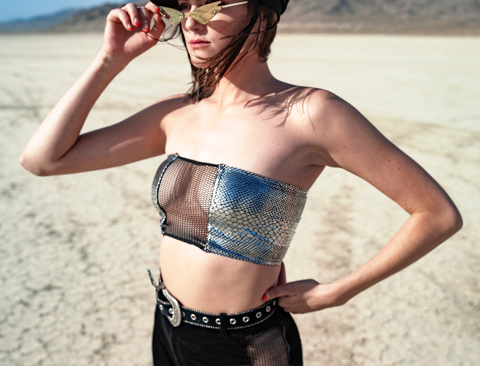 Silver Serpent Tube Top