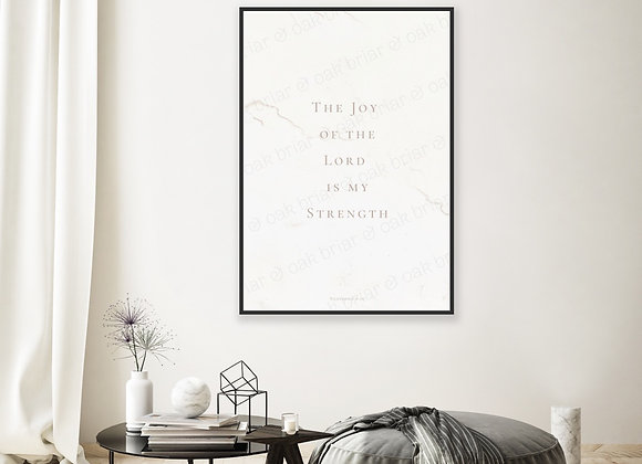 The Joy of the Lord - 12x18 Print