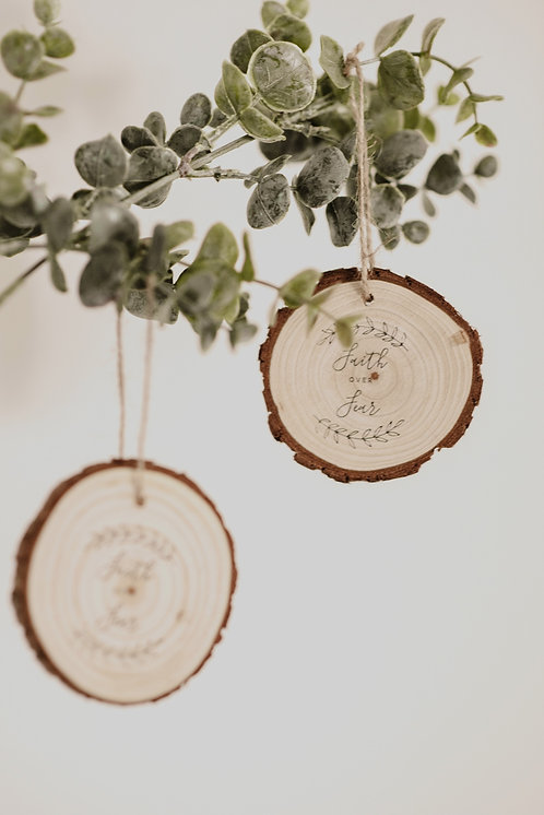 Faith over Fear Ornaments