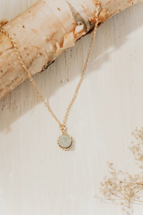 Stone Necklace - Pale Ocean Dream