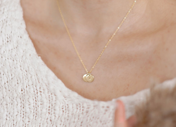 Initial Disk Necklace
