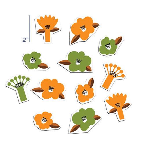 Retro Orange Flora Set