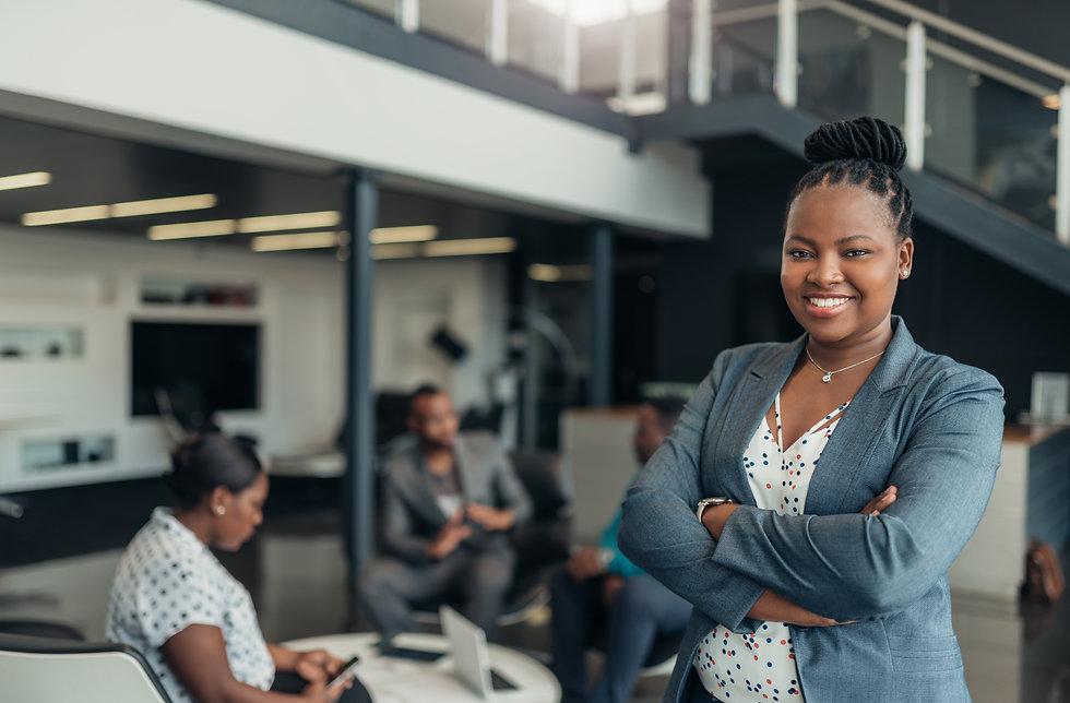 Portrait of a confident black businesswo