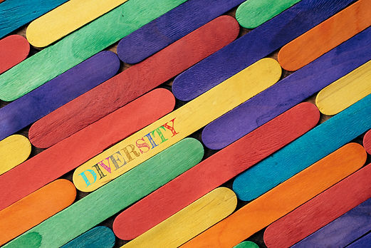 Colorful wooden stick with DIVERSITY wor