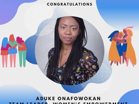 Aduke commences IYF Journey as Team Leader, Women's Empowerment