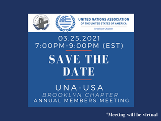 Save the Date! UNA-USA Brooklyn Chapter Annual Members Meeting (March 25, 2021)