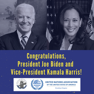 The United Nations Association of the USA (UNA-USA) Congratulates President Biden and Vice President