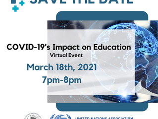 Save the Date! COVID-19's Impact on Education (March 18, 2021)