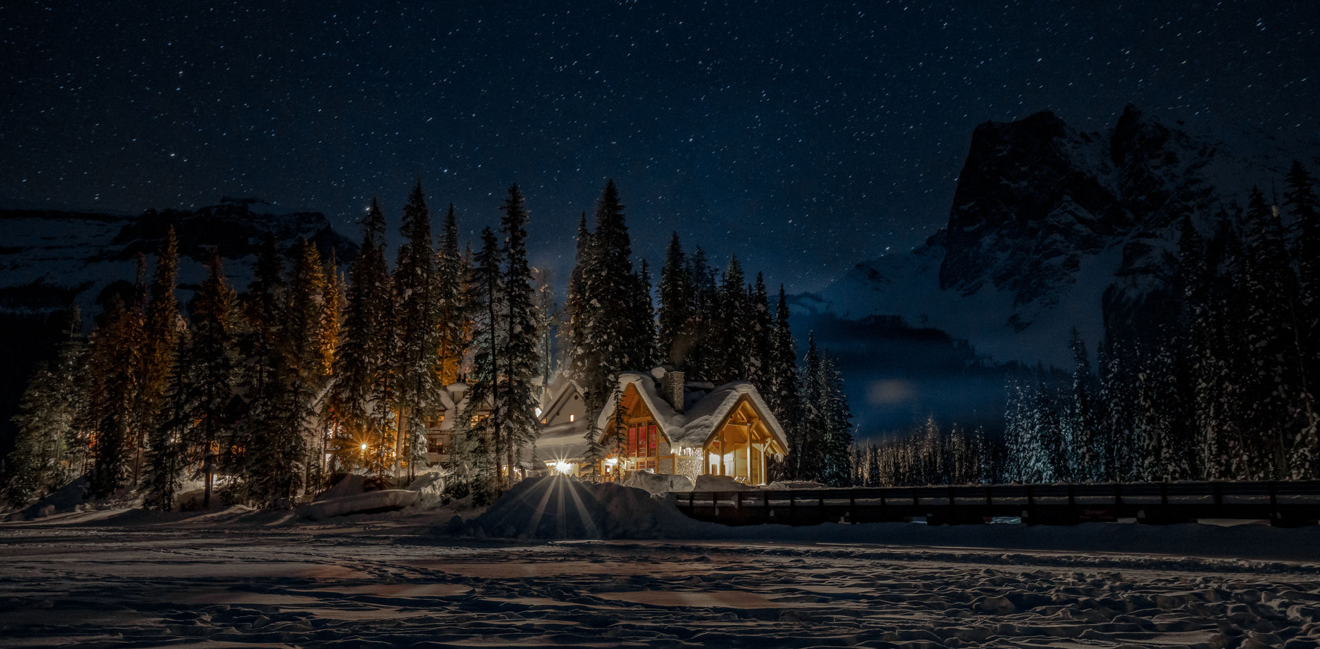 Nighttime at Emerald Lake