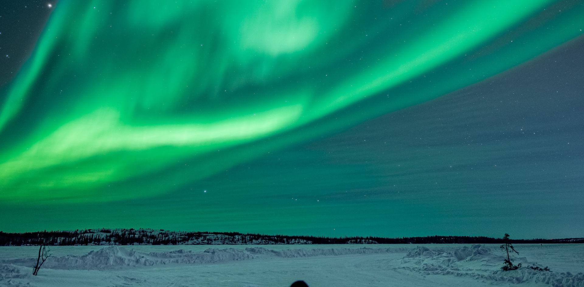 Enjoy the aurora views