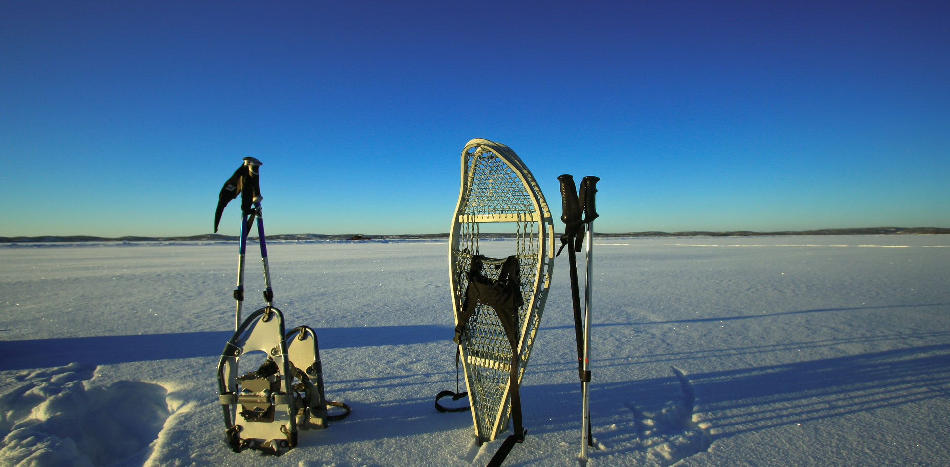 Snowshoe along the NWT Winter Road