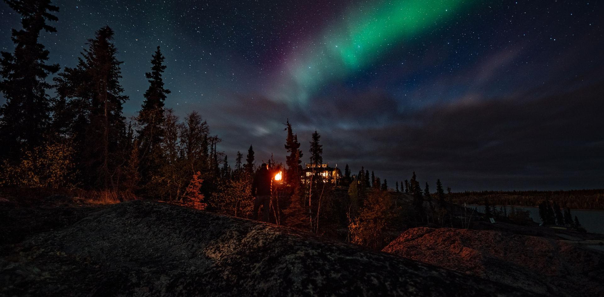 Blachford Lake Lodge Aurora