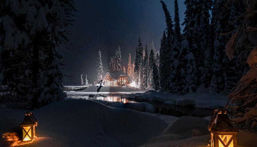 Emerald Lake at Night