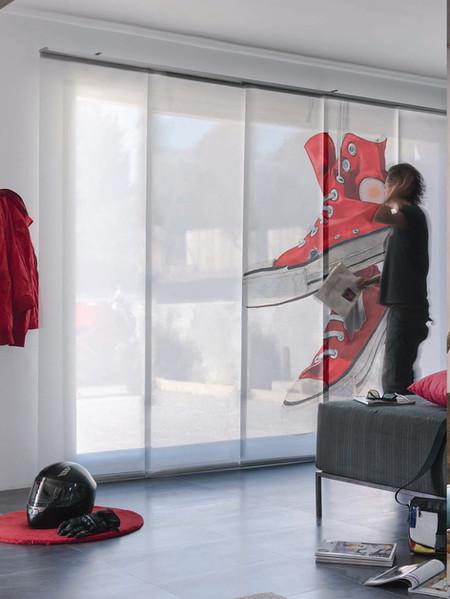 Estampación de imagenes en cortinas tipo panel japonés | Madrid | Cortistor