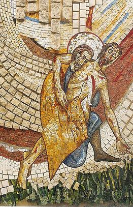 Mosaïque concue par Marko Rupnik, chapelle privée