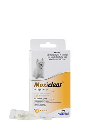 MOXICLEAR SMALL DOG APRICOT 3pack 4-10KG
