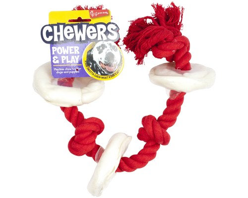 YOURS DROOLLY ROPE RAWHIDE RINGS 65CM