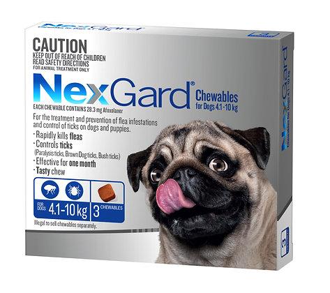 NEXGARD CHEWS MEDIUM BLUE 3pack 4.1-10KG