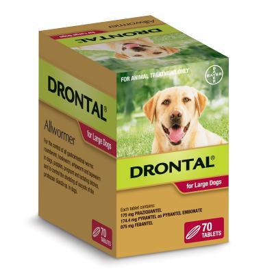 DRONTAL DOG 35KG LGE 70 pack