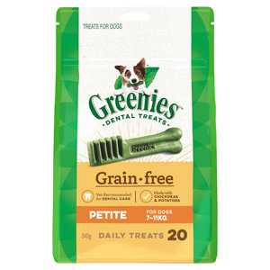 GREENIES GRAIN FREE PETITE 20TREATS 340G