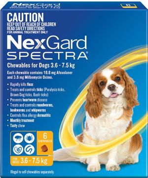 NEXGARD SPECTRA YELLOW 6PACK 3.6-7.5KG