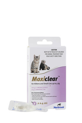 MOXICLEAR SML CAT PURPLE 6PACK KITTEN UP TO 4KG