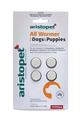 ARISTOPET DOG SMALL PUPPY ALLWORMER 4pack