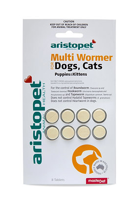 ARISTOPET DOG & CAT MULTIWORMER 8'S