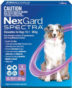 NEXGARD SPECTRA PURPLE 6PACK 15.1-30KG